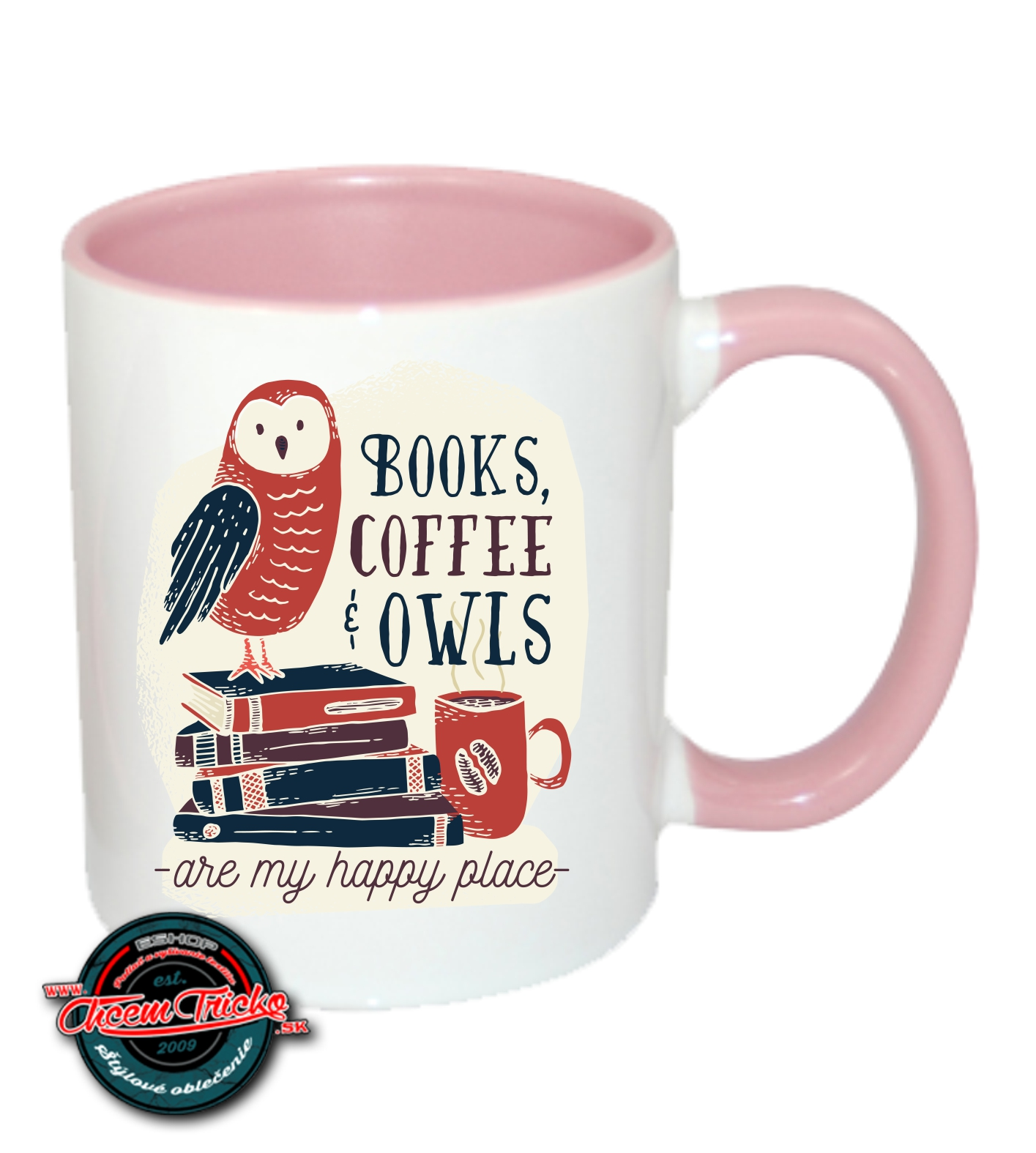 Hrnček Books, Coffee, Owls