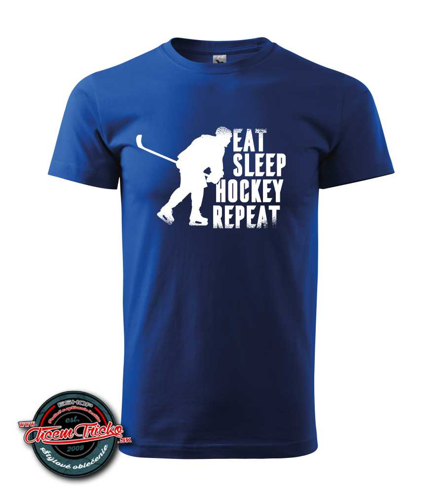 Tričko Eat, sleep, hockey, repeat