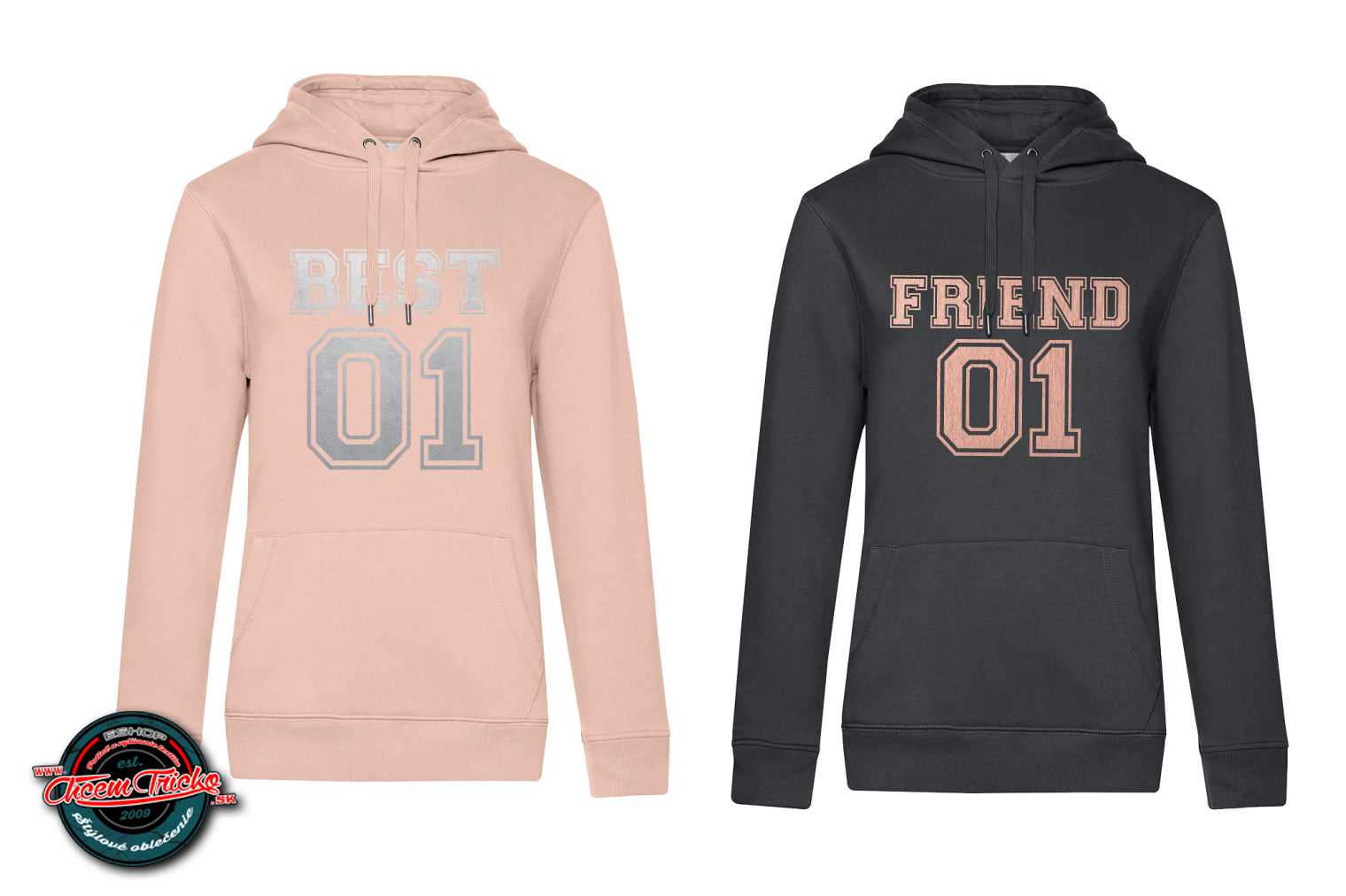 Mikiny Best Friend silver/rose gold