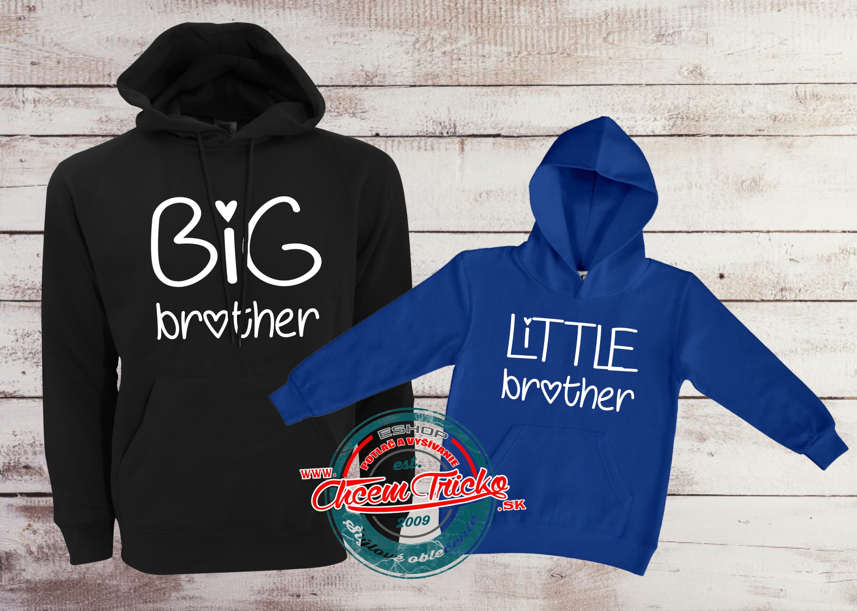 Mikiny Big brother/Little brother blue