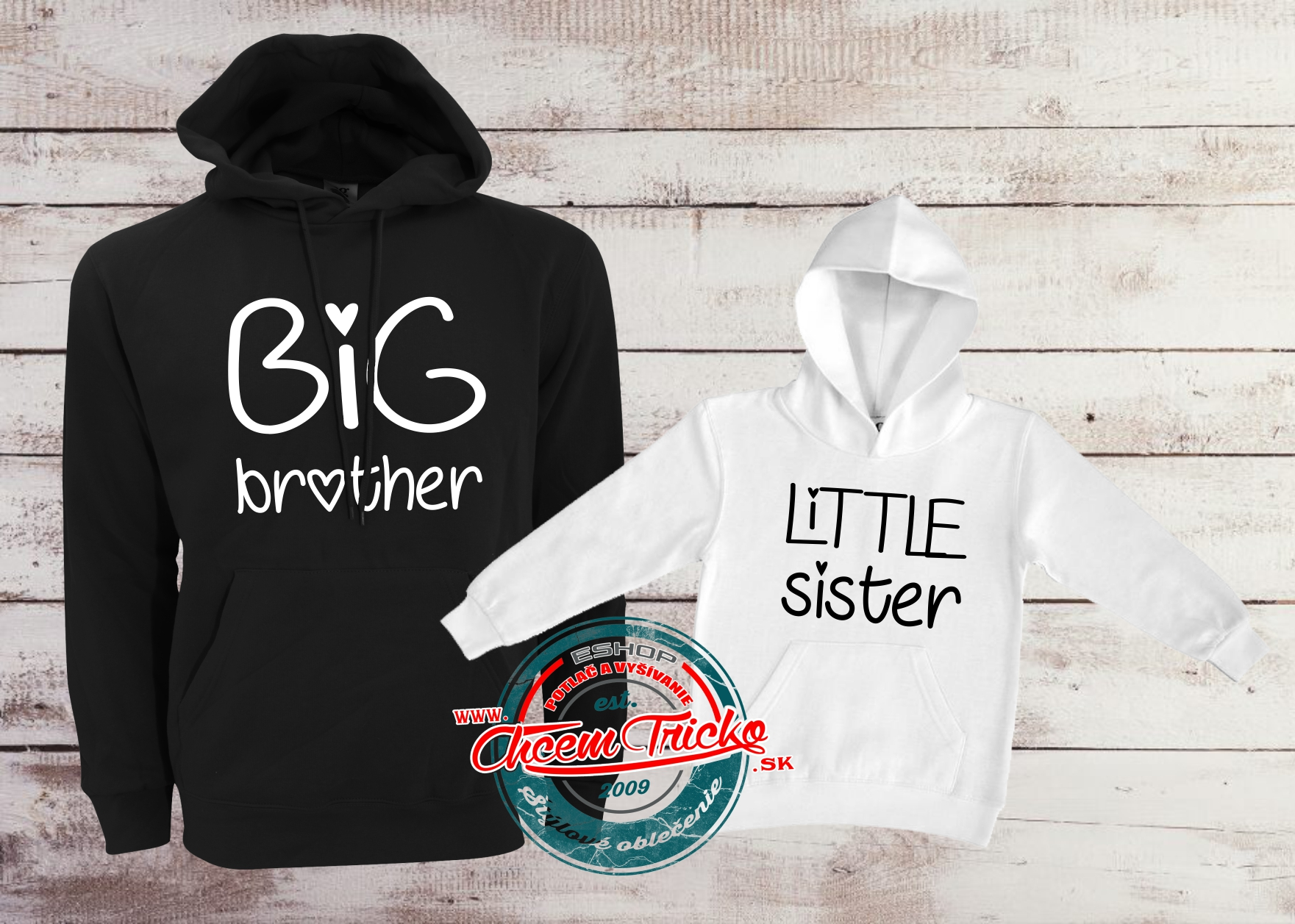 Mikiny Big brother / Little sister bw
