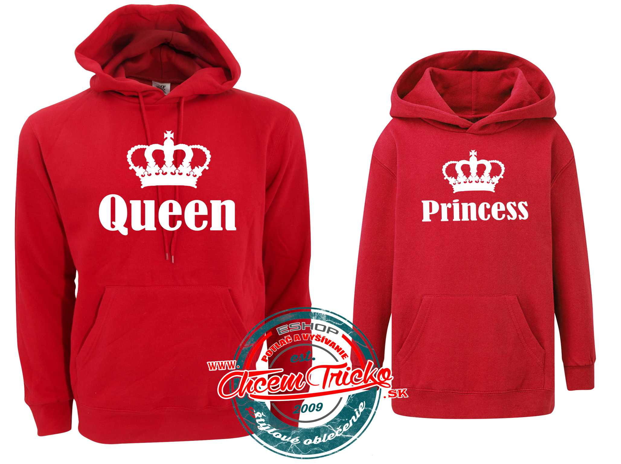 Mikiny Queen / Princess red