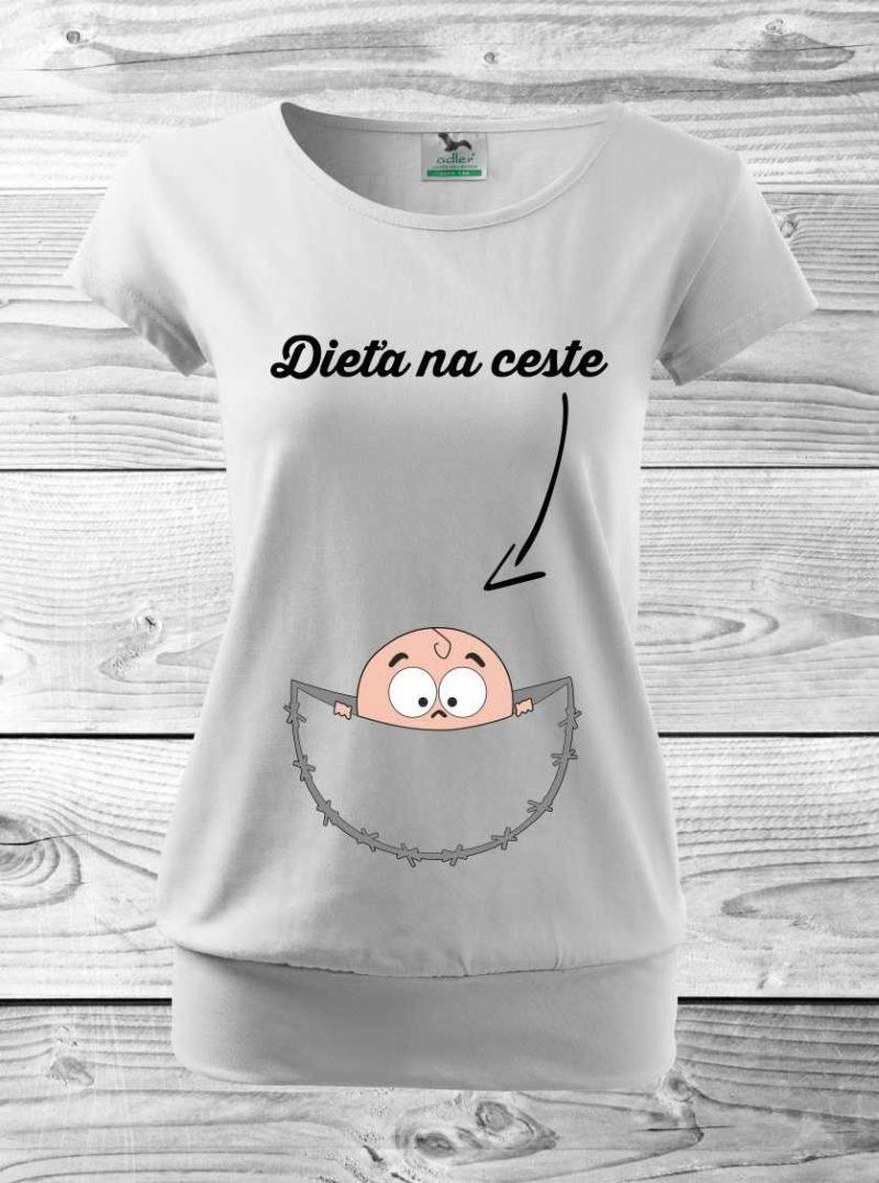 64c4ec26660e Tehotenské tričko- dieťa na ceste
