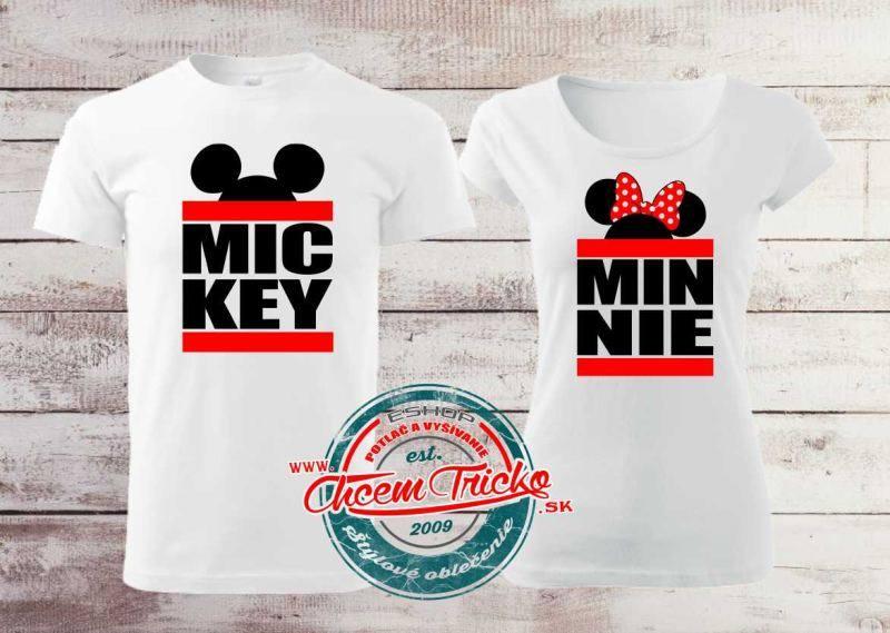02e3b9e9e2ad Tričká pre páry Mickey   Minnie