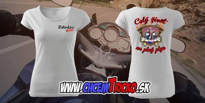 01cbbf2e7 Dámske tričko Celý život na plný plyn 3