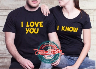 Tričká I love you I know b31876f7814